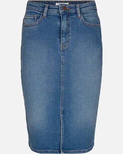 Rikka HW Denim Skirt_14851_1_L Blue Wash